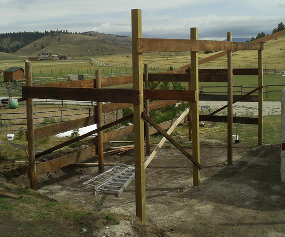 Work on the Epic Barn on September 4
