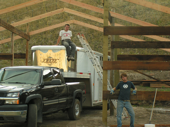 Work on the Epic Barn on September