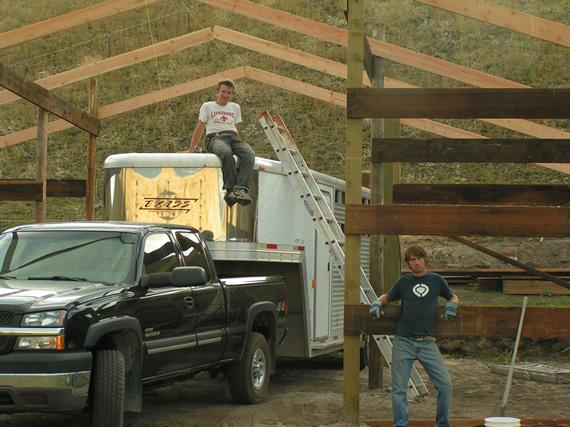 Work on the Epic Barn on September