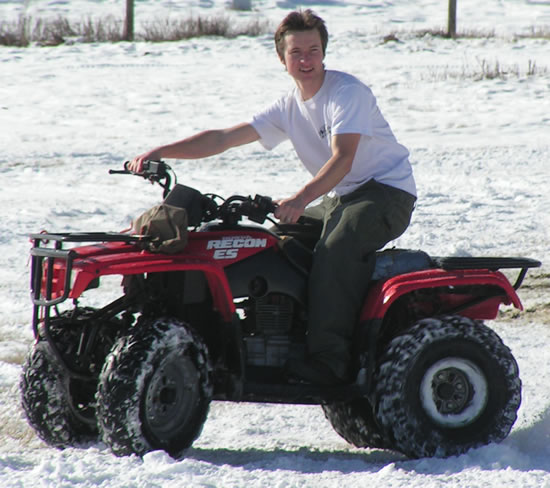 Ashton on the ATV