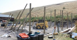 Day 1: Make the poles perfectly plum and straight and pack them down.